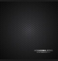 Hexagonal steel surface vector