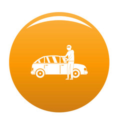 Hijacker icon orange vector