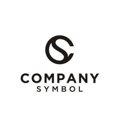 initials monogram cs sc circular yin yang logo vector image