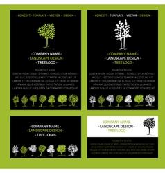 Landscape logo design concept vector image