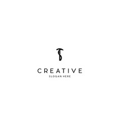 letter ts creative business logo design vector image