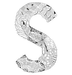Lletter s for coloring decorative vector