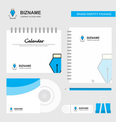 logo calendar template cd cover diary and usb vector image