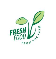 logo fresh food from the farm vector image