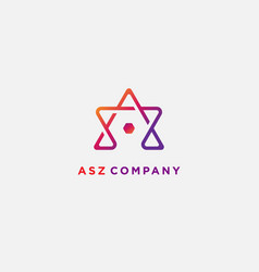 Logotype letter a s z template usable vector