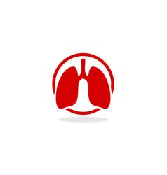Lung logo icon vector