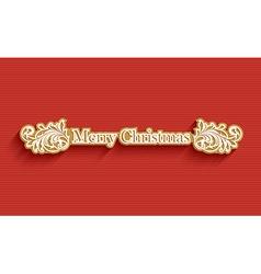 Merry Christmas holiday post card vector image