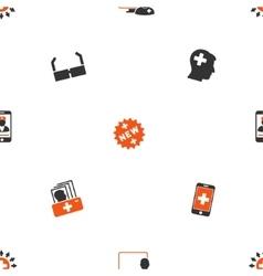 Online Medicine Flat Pattern vector image