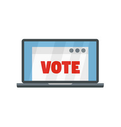 online vote icon flat style vector image