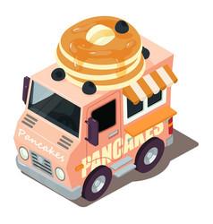 pancakes machine icon isometric style vector image