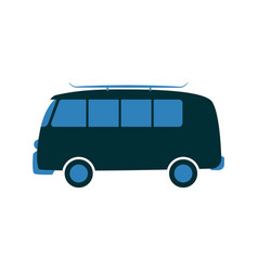 passenger van car in flat vector image