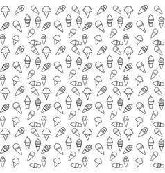 pattern ice cream line vector image
