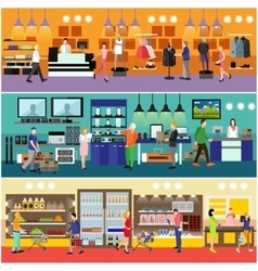 People shopping in a mall concept Consumer vector