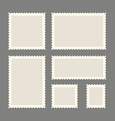 Postage stamps template vector