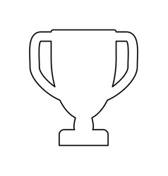 prize cup trophy pictogram vector image