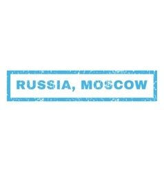 Russia Moscow Rubber Stamp vector