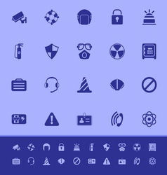Safety color icons on blue background vector image