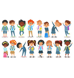 School children of different nationalities vector