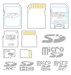 Sd card symbols vector