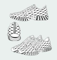 Sneaker art vector