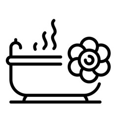 Spa bathtub icon outline style vector