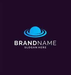 space logo design vector image