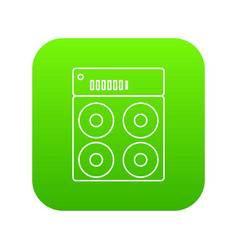 speaker box icon green vector image