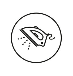 steam iron icon editable thin line vector image