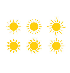 sun icon symbol sunlight design vector image