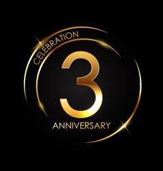 Template 3 years anniversary vector