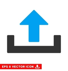 Upload eps icon vector