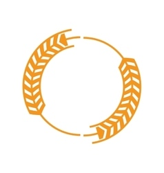 Wheat ear badge icon vector