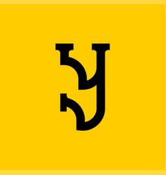 Y letter old russian font national folk alphabet vector