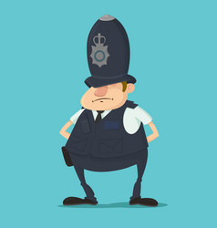 british police officer vector image
