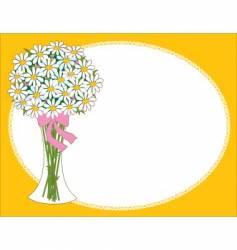 daisy vase vector image vector image