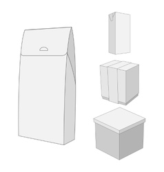 Design of white carton Package Box vector image