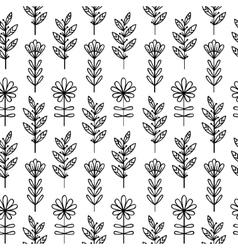 Vertical floral pattern vector image