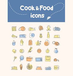 cook and food icon vector image