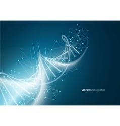 DNA molecule structure background vector image vector image