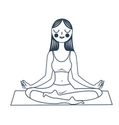 girl sitting in a lotus pose vector image