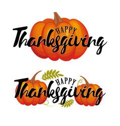 happy thanksgiving pumpkin icon fall vector image vector image