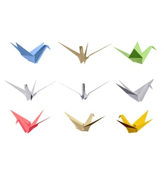 Origami triangle style elements vector image