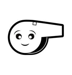 sport whistle icon image vector image