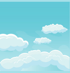 background sky with clouds vector image vector image