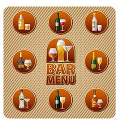 Bar menu icon vector
