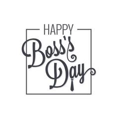 boss day logo lettering design background vector image vector image