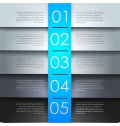 clean numbered banners vector image vector image