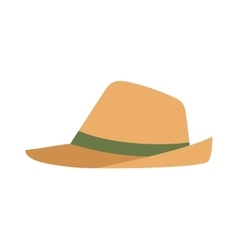 Cowboy sheriff leather hat vector image vector image