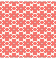 Floral seamless pattern red and white shabby vector