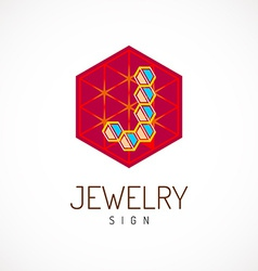 J letter logo template Jewelry sign vector image vector image